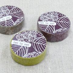 NEW!●メール便可●ラッピングやコラージュに点と線模様製作所 紫陽花 マスキングテープ 1巻パック