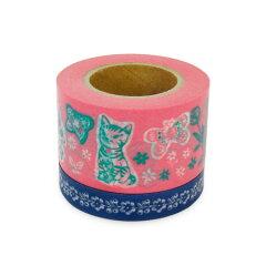 NEW!ラッピングやコラージュに♪マスキングテープ シャシャンパー ナタリーレテ(ピンク)