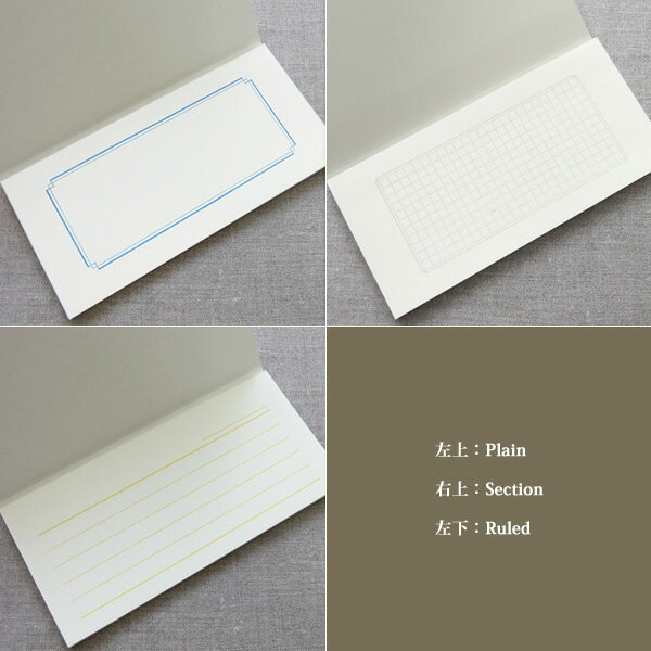 yuruliku『NOTEPAD活版印刷一筆箋Section(方眼)』