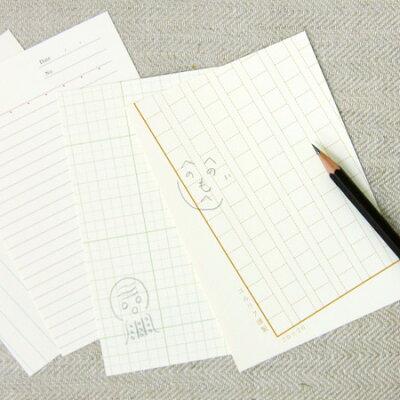 なんだか授業中に回ってきた手紙のよう…yurulikuの脱力系ポストカード