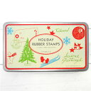 クリスマスカードやラッピングにCavallini スタンプセット(ホリデー)