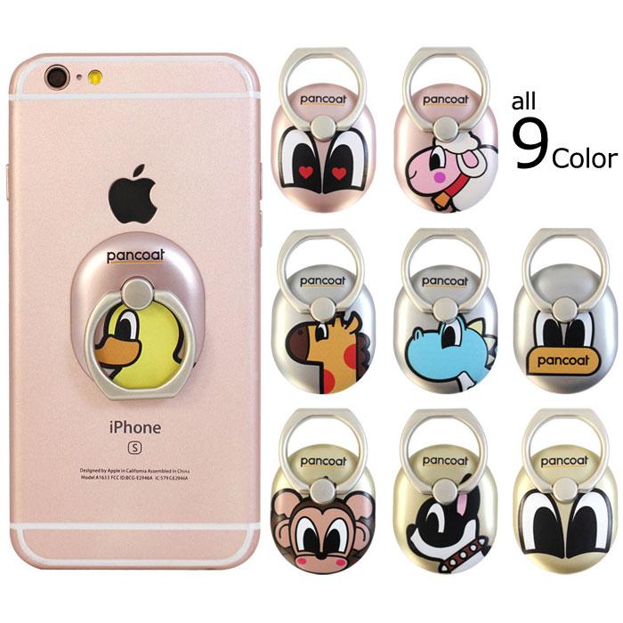 スマートフォン・携帯電話用アクセサリー, スマートフォン用ホールドリング PANCOAT Ring Ring iPhone Galaxy PC iPhone7 iPhone6 iPhone6S Plus Galaxy S7 edge 6 6S S7 S7edge