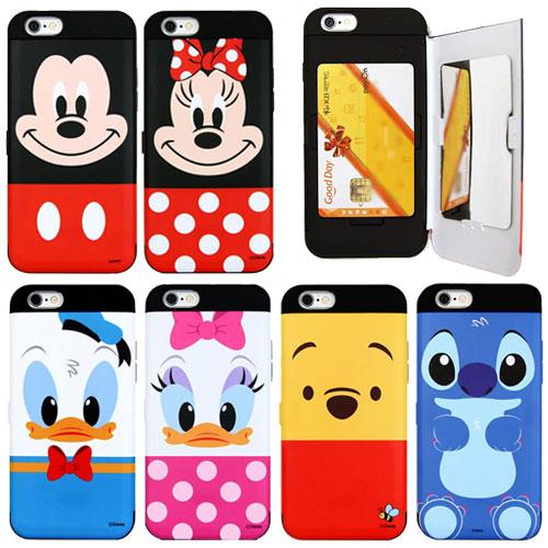 99d96b456c [Disney Double Card Bumper ディズニー カード 二重 バンパーケース] スマホケース iPhone8 iPhone7  iPhone6