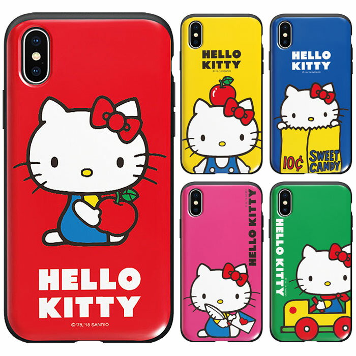 スマートフォン・携帯電話用アクセサリー, ケース・カバー Hello Kitty Retro Card Slide Bumper Galaxy S9 SC02K SCV38 S9 SC03K SCV39 S8 SC02J SCV36 S8 SC03J SCV35 S7edge SC02H SCV33 Plus