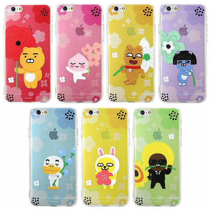 スマートフォン・携帯電話用アクセサリー, ケース・カバー KAKAO Friends Flower Jell Hard iPhone8 iPhone7 iPhone6s iPhone6 iPhone 6 6s 7 8 Plus iphone7plus iphone8plus Galaxy S8 SC-02J SCV36