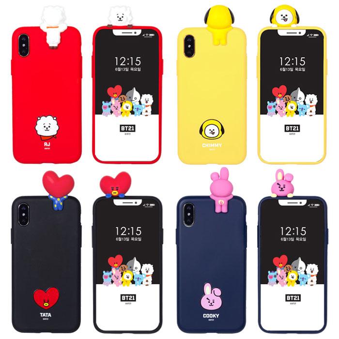 スマートフォン・携帯電話アクセサリー, ケース・カバー BT21 Mascot Soft iPhone 11 11Pro X XS XR SE 2 8 7 Pro 10 10s 10r SE2 RJ CHIMMY TATA COOKY