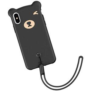 [Baseus Bear Silicone Case ベースアス クマ シリコンケース] スマホケース iPhone XR 10r アイフォン アイホン テン アル 柔らかい ソフトケース ストラップホール 手首ストラップ付き 熊 クマ くま ベア【】
