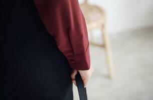 【全品20%OFFお買い物マラソンsaleクーポンポイント2倍10月4日25:59まで】送料無料ボウタイシャツブラウスノーカラーリボンプルオーバー長袖スキッパーVネックシンプルインナースーツ2017新作秋冬かわいい秋物冬物ママファッションレディ