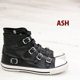 2/23再入荷 【あす楽】 【 日本正規取扱店 】 ASH sneaker スニーカー Virgin Black アッシュ レザー 靴 レディース ハイカット shoes