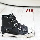 再入荷 【 日本正規取扱店 】 ASH sneaker スニーカー Virgin Black/Antic Silver Buckle アッシュ レザー 靴 レディース shoes