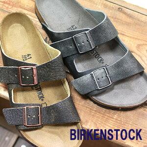 【ポイント10倍】 【国内正規品】【あす楽】 BIRKENSTOCK Arizona Rivet Logo Vintage Brown(1013047) Vintage anthracite(1013045) ビルケンシュトック アリゾナ リベット ロゴ レギュラー レザー メンズ サンダル