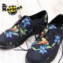 4/13入荷 Dr.Martens LESTER BLACK 15821003 ドクターマーチン 3ホール 花柄 シューズ ブラック メンズ【マーチン 8ホール に並ぶ人気シリーズ】