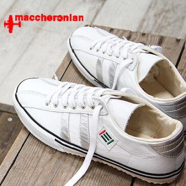 maccheronian 2215L WHITE/SILVER マカロニアン 2215 スニーカー メンズ レディース sneaker レザー