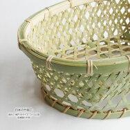【日本の竹細工】椀かご楕円中サイズ2〜3人用底補強力竹有