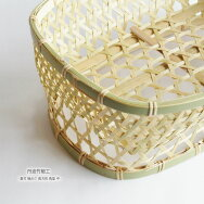 丹波竹細工真竹椀かご長方形角型中