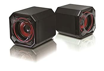 【中古】プリンストン PCスピーカー バックパッシブラジエーター搭載 最大出力5W(2.5W×2)レッド