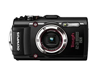 【中古】OLYMPUS デジタルカメラ STYLUS TG-3 Tough ブラック 1600万画素CMOS F2.0 15m防水 100kgf耐荷重 GPS+電子コンパス&内蔵Wi-Fi TG-3 BLK