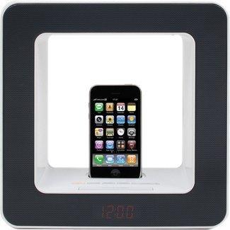 【中古】Teac SR-LUXi-B Table-Top FM Radio Room Lamp Alarm Clock with iPod/iPhone Dock - Black by Teac [並行輸入品]画像