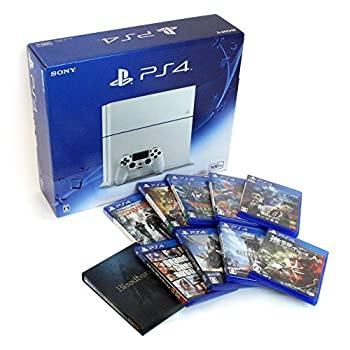 【中古】(中古セット)PlayStation 4 グレイシャー・ホワイト (CUH-1200AB02) + ソフト10点