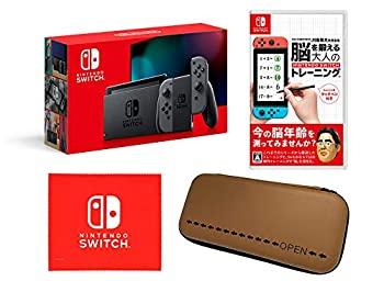 【中古】Nintendo Switch 本体 (ニンテンドースイッチ) Joy-Con(L)/(R) グレー(バッテリー持続時間が長くなったモデル) & 東北大学加齢医学研究所 川島