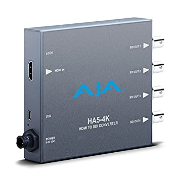 パソコン・周辺機器, その他 Aja ha5???4?K 4?K HDMI to SDI mini-converter 4?K
