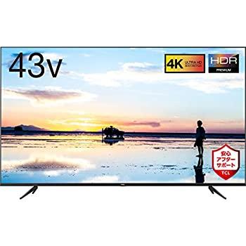 【中古】TCL 43V型 4K液晶テレビ 43K601U HDR搭載 鮮やかな色彩 裏番組録画対応 2019年43インチモデル 43K601U