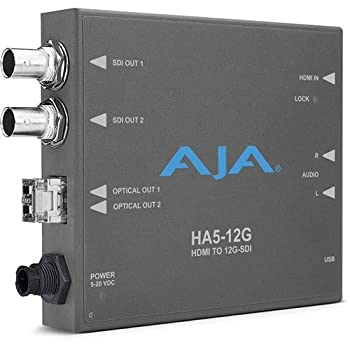 PCアクセサリー, 変換コネクタ・ケーブル Aja HA5-12G-T 12G-SDI - HDMI 2.0