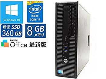 パソコン, デスクトップPC SSD 360GBWin10 ProHP ProDesk 600 G1(SFF) Core i7-4790 8GBSSD 360GBDVD
