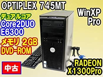 【中古】デスクトップパソコン DELL 745MT Core2DUO E6300 2048MB DVD 80GB WinXPPro