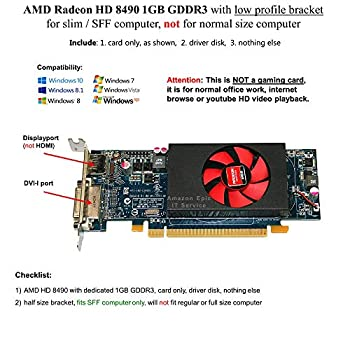 パソコン・周辺機器, その他 AMD Radeon HD 8490 1GB DDR3 PCIe x16 DVI DisplayPort Dell MX4D1