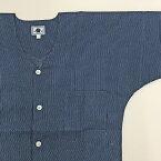 【あす楽】鯉口シャツ 祭り用品 【女性用 中サイズ 紺地に青刺子】