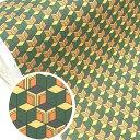 【ネコポス便】 生地 布 【毘沙門亀甲 きっこう】巾110cm 10cm単位売り 綿100% 国産 オックス生地 ※鬼滅の刃オフィシャル生地では有りません 日本の伝統古典柄です