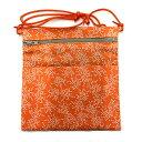 【あす楽】財布ポシェット 小物ポシェット 柄:オレンジ祭