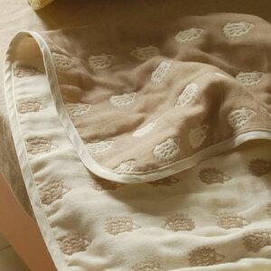 ガーゼケット風通ガーゼケットはりねずみシングルサイズ140×200cm無添加6重織ガーゼケット♪ガーゼ生地の特徴を最大限に生かすための5枚の組織を1度に織り上げた無添加6重織ガーゼケット!