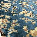 【金華山 生地】布 和柄 トラック内装 はぎれ 花柄 ネオプリンセス レッド ブルー 2