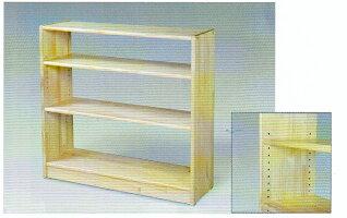 白木棚<大>可動式(棚板)・背板なし組立式