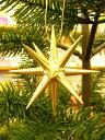 金の星(大)立体 クリスマスオーナメント 木製 エルツ ザイフェン クリスマスツリー オーナメント ドイツ ニキティキ