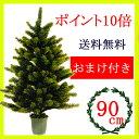 クリスマスツリー90cm  RS GLOBAL TRADE社(PLASTIFLOR社)【送料無料】【選べるオーナメント付】【ポイント10倍】【あす楽対応】