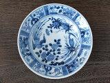 間取花鳥 リム60深皿 /藍凛堂 深皿 リム型 染付 和食器 美濃焼(岐阜県)/