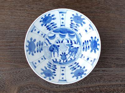 芙蓉手草花 リム60深皿 / 藍凛堂 深皿 リム型 染付 和食器 美濃焼(岐阜県) /