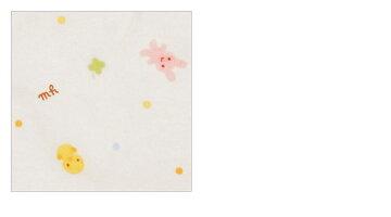 ★mikihouse★ミキハウス★「抗菌・抗ウイルス加工」ピュアベール天使のはぐどうぶつとクローバー柄の天竺フード(帽子)