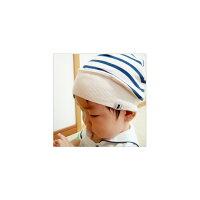 mikihouse★【ミキハウス(ベビー)】BBB★柔らかボーダーフード(帽子)★ミキハウスプレゼント/ギフト/【あす楽対応】【あす楽_土曜営業】