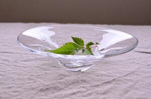 ガラス工芸 塩谷由佳乃 shiotani yukano 吹きガラス ゆら小鉢(浅) 硝子 オリジナル ガラスボウル 花器
