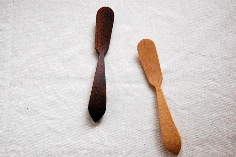 木製バターナイフ 2種TANBANANBA 木のしごと 難波行秀