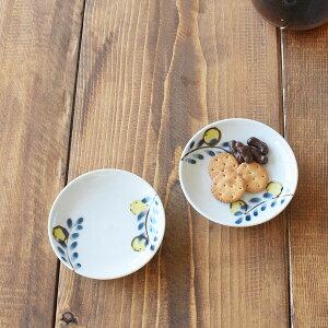 九谷青窯米満麻子色絵レモンの木4寸皿