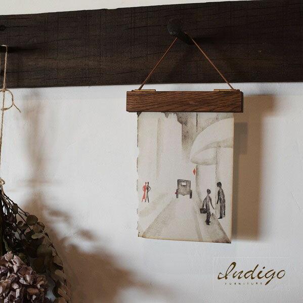 メール便対応●木製バインドホルダー S オーク●写真 ポストカードindigo furniture 木製ホルダー