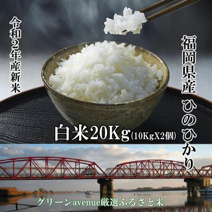 新米 20Kg 令和2年産 ひのひかり 減農薬 定期便 白米 精米 仕立て 送料無料...