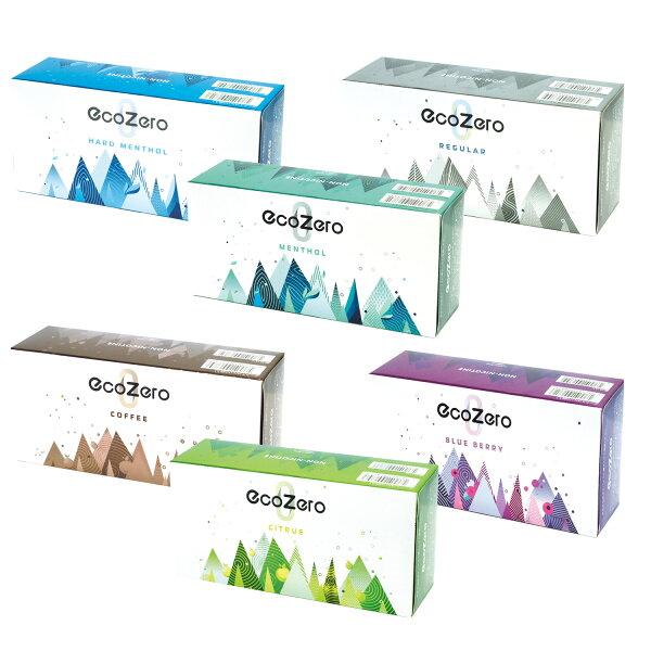 EcoZeroエコゼロ1カートン(10箱入り)1箱20本入り茶葉スティックニコチンゼロ加熱式タバコ加熱式たばこニコチン0たばこ風