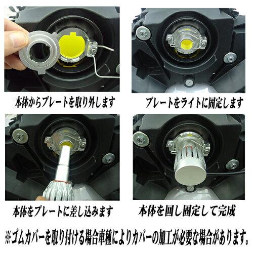【送料無料】【即納】ブラックナイトオールインワン取付LEDヘッドライト4000lmソケットH4Hi/LoThreeChipCREE時代はもうLEDの世界!取付簡単