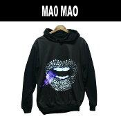 【送料無料】MAO MAO プルオーバーパーカー ストリート系 フード付き スウェット メンズ